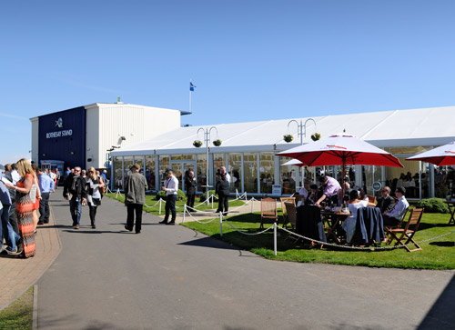 The Paddock Lawn Marquee from the Parade Ring