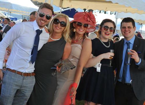Racegoers enjoying their day out at the races