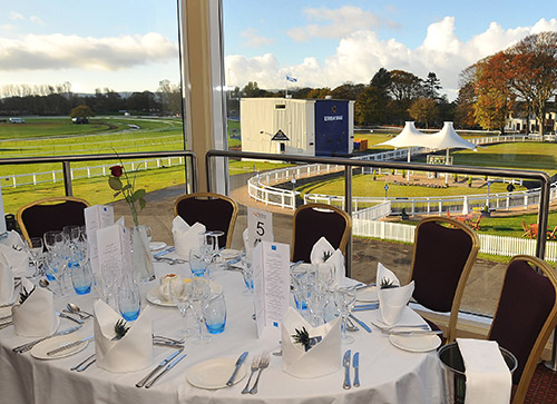 Our Chancellor Restaurant looking over the Paddock