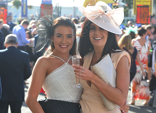 Ladies enjoying their day out at Ayr